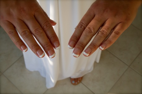 The brides beautiful nails