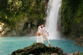 Rainforest and Waterfall Wedding at Rio Celeste, Costa Rica - Photography by John Williamson