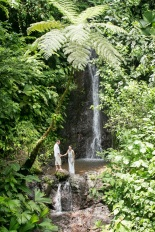 Rainforest Waterfall Wedding photography in Costa Rica by John Williamson