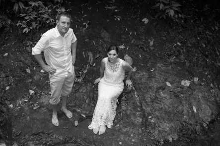 Jungle Waterfall Wedding photography in Costa Rica by John Williamson