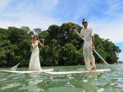 SUP Trash the Dress in Uvita Costa Rica - Wedding Photography by John Williamson