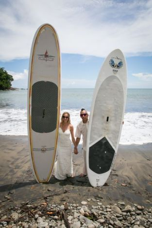 SUP Trash the Dress in Uvita Costa Rica - Wedding Photography by John Williamson
