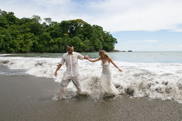 Trash the Dress in Uvita Costa Rica - Wedding Photography by John Williamson