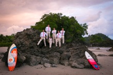 Destination wedding at El Avion, Costa Verde in Manuel Antonio, Costa Rica. Wedding Photography by John Williamson