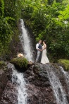 Waterfall Wedding photography in Costa Rica by John Williamson